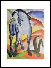 Franz Marc Blaues Pferd I Monaco Poster Kunstdruck mit Alu Rahmen in 80x60cm