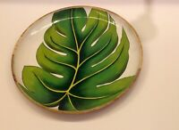 serving tray round dinnerware plate handpainted serving dish wooden serving tray