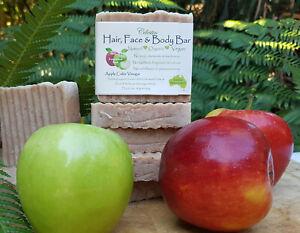 Celestin Organic Pure Natural Apple Cider Vinegar Shampoo Conditioner Soap Bar