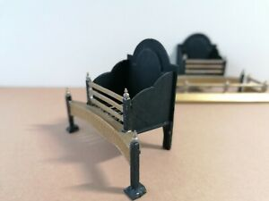 Dolls House Metal Fire Baskets And Fenders, beautiful vintage items