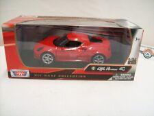 Alfa Romeo 4C (Typ 960), red, 2013, Motormax 1:24, OVP