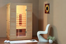 Superior Spas Thea 2 Person Infrared Indoor Sauna-Carbon Heaters-In Stock