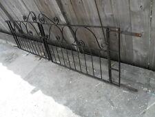 pair of old art deco style wrought iron entrance gates scroll top garden gatesg5