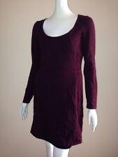 Victoria's Secret S Pointelle Scoop Neck Flare Sweaterdress Pinot Noir
