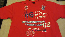 Dan Henderson Hendo UFC 82 Columbus Training Red T-shirt New XXL 2XL