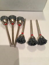 (6) LOT OSBORN GERMANY-500 GRIT MINI CUP BRUSH-NYLON SILICON CARBIDE-POLISHING