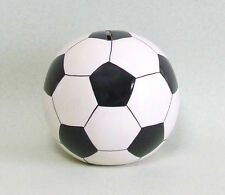 Witzige Vereinskasse Spardose Fußball Rot 12 cm Durchmesser Keramik