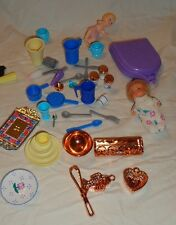 Miniature Dollhouse Collectible Accessories Pots Plates Canisters Baby Dolls
