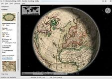 3d de mármol Planeta Tierra Luna Venus Marte Virtual Atlas Mapa Software Pc Mac Plataforma
