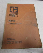 Caterpillar Cat 631D Tractor Parts Catalog Manual 1978 24W1 48W1