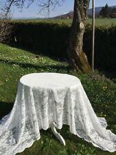 Spitzen Tischdecke LUCIA Offwhite Rosen 140x250 Shabby Vintage Landhaus