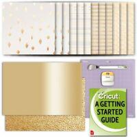 Cricut Deluxe Foil Embossed Paper Sampler in Gold, GripMat, Tool Set, and eGuide