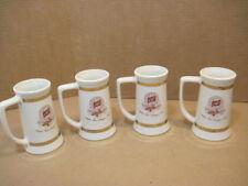 4 OLD VINTAGE CERAMIC SCHLITZ BEER MUG STEIN BREWERY CUP MANCAVE BARWARE