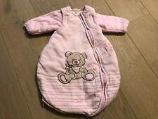 JACKY Baby Schlafsack Mädchen rosa Winter gefüttert mit Ärmeln Gr. 50/56