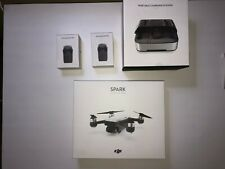 DJI Spark Controller Combo Camera Drone - White - Portable Charger - 3 Batteries