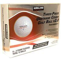 2021 NEW KIRKLAND SIGNATURE v2.0 Three-Piece Urethane Cover Golf Ball 1-dozen