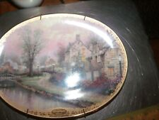 Thomas Kinkade Lamplight County Second Issued Lamplight Lane Collectors Plate