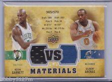 2009-10 UD VS Dual Materials Kevin Garnett/Gilbert Arenas Card #VS-GA 365/570