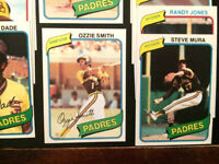 1980 (17 cards)Topps W/Ozzie Smith 2nd yr. San Diego Padres-VENDING-NM-MT HI-END