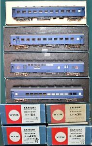 JNR 4 Assorted Suha Passenger Cars Blue & Gray KTM Brass HO JB9