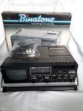 BOXED  Binatone Visioncorder Portable TV MW-LW;VHF Radio Cassette Recorder