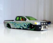 customized Hot Wheels  Loose Nissan Titan Pickup Silver with hand-painted  1:64