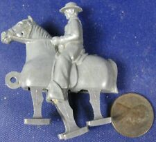 Vintage 1940's-1950's Kids Toy Hard Plastic Cowboy Riding Horse Walker