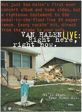 Van Halen Live: Right Here, Right Now 1993 Promo Poster Ad
