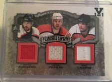 11/12 ITG CAPTAIN C FORSBERG LINDROS + TRIPLE JERSEY 15/16 1/1 BLACK FINAL VAULT