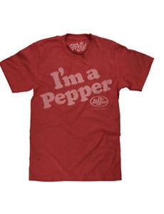 Dr Pepper T-Shirt - I'm A Pepper Crimson Dr Pepper Logo Shirt