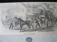 Vintage Print,MAIL COACH,Changing Horses