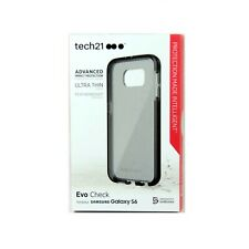 TECH21 CASE FOR SAMSUNG GALAXY S6 EVO CHECK FLEX SHOCK THIN BLACK SMOKY T21-4426
