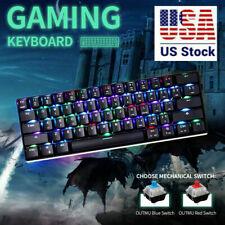 MOTOSPEED Wired/Wireless 3.0 Mechanical Keyboard 60% Compact 61 Keys RGB Backlit