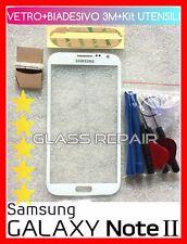 FRONT GLASS WHITE Vetro vetrino BIANCO x SAMSUNG GALAXY Note 2 II GT-N7100 N7105
