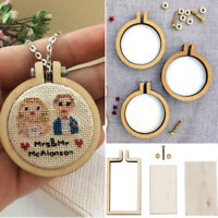 Stitching Cross-Stitch Frame Embroidery Hoop Pendants Necklaces Crafts DIY Gift