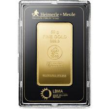Goldbarren 50 Gramm im Blister Heimerle + Meule