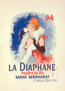 la Diaphane by Jules Cheret 90cm x 64cm Art Paper Print