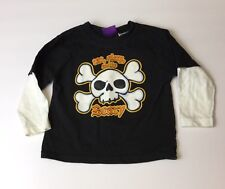 Eat, Sleep, and Be Scary 18 Month Toddler Long-Sleeve Halloween Skull T-Shirt