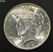 "1924 Peace Dollar ""GEM BU"" *Free S/H After 1st Item*"
