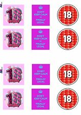 PRECUT Finally 18th Birthday Cake Decorations Edible Cup Cake Toppers Pack of 12