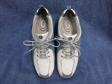 Etonic Women's Golf Shoes - Size 7 1/2 M White and Light Blue EUC