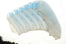 APS Bogy 178 sq ft skydiving 7 cell F111 reserve parachute canopy - white/blue