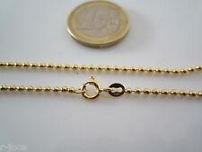 catenina argento 925 placcato oro giallo lunga 40 cm pallini grandi made italy