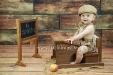 School Desk & Chalkboard Newborn-12 Months photography prop wood hand made Brown