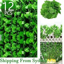 12X 2.2M Artificial Ivy Vine Fake Foliage Hanging Leaf Garland Plant Party Deco