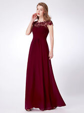 Ever-Pretty Bridesmaids Formal Party Long Maxi Dress 09993 Size 4 Burgundy 8
