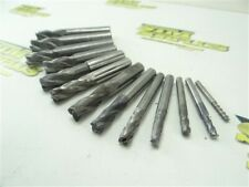 """New listing Lot Of 13 Solid Carbide End Mills 1/8"""" To 1/2"""" Dia Niagara Advanced"""