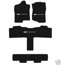Chevy Tahoe  Floor Mat Set with Logo on all 3 4 pce for SUV with 3rd row 15-17