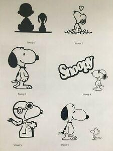 Snoopy Vinyl Decal Sticker Woodstock Charlie Brown Beagle Decor Wall Glass Car