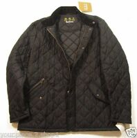 Barbour Men's Black Chelsea Sportsquilt Quilted Jacket